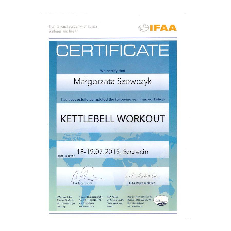 Certyfikat -kettlebell workout