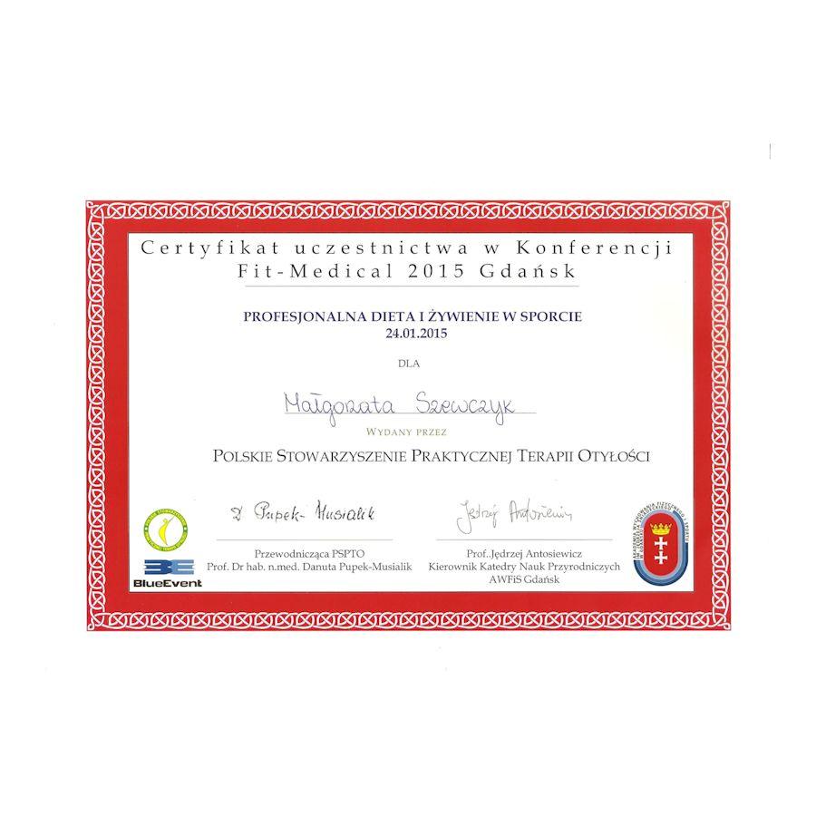Certyfikat -profesjonalna dieta i zywienie w sporcie
