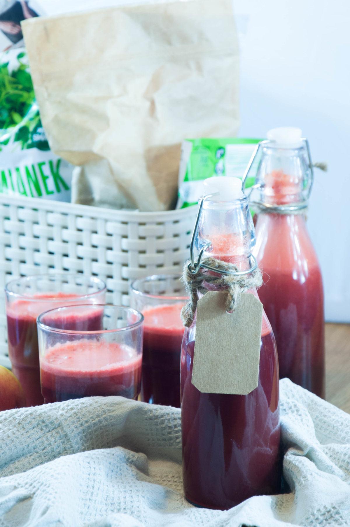 Bardzo odżywczy sok z surowych warzyw