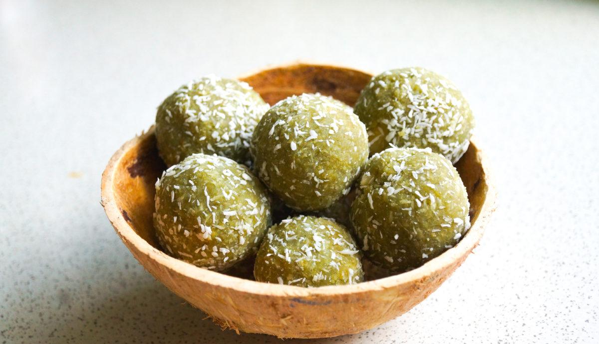 Zielone kuleczki z herbatą MATCHA